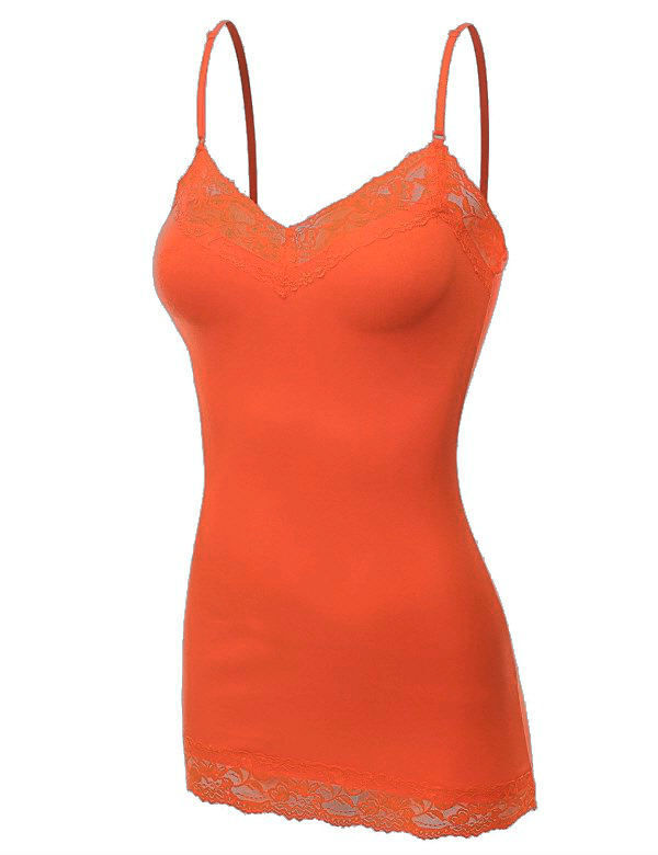 Купить Womens Tank Top Lace Cami Bozzolo Long Layering Spaghetti Strap S,M,L Free Ship