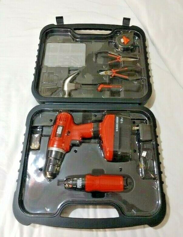 black and decker power tools set in