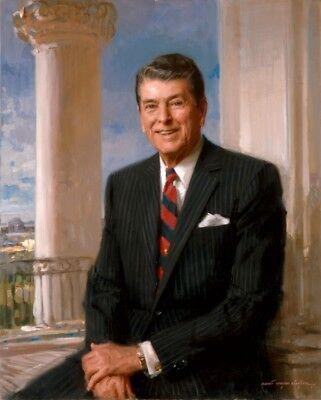 (Ronald Reagan 40th President Historical Matte Art Portrait 8.5x11 Borderless)