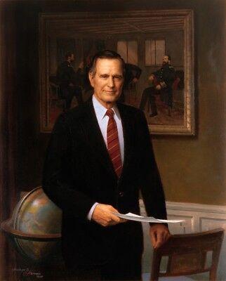 George H W Bush 41St President Historical Matte Art Portrait 8 5X11 Borderless