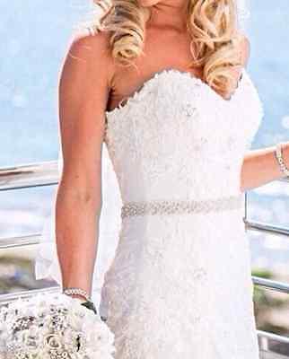 Ivory/white Wedding Crystal Beaded Rhinestone Sash Belt for Christmas Bridal