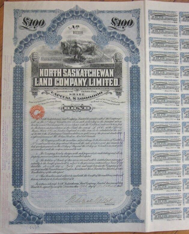1911 Vertical Bond Certificate: