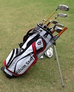 Golf Clubs RH men's Wilson & Cleveland + Standbag like NEW Bundoora Banyule Area Preview