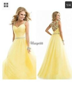 Yellow long maxi party wear dress- brand new