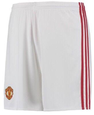 2016-17 Men's Adidas Manchester United Home Soccer Jersey Shorts XXL 2XL Man U image