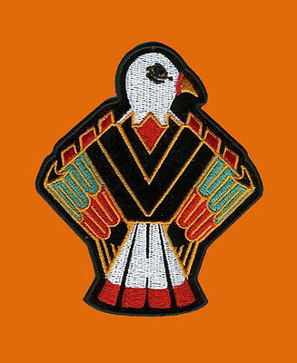 Native Eagle indian   EMBROIDERED 4 INCH IRON ON MC BIKER  PATCH