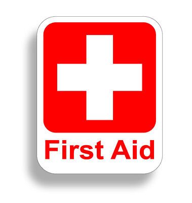 CPR First Aid Sticker 1st Rescue Safety Decal Emergency Station Helmet OSHA 911