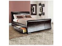 Good condition King size bed for sale. Comes with luxury memory foam mattress!