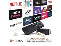 Boxed new Amazon Fire Tv Stick kodi/SPMC movies Sports ppv box office workout Tv much much more