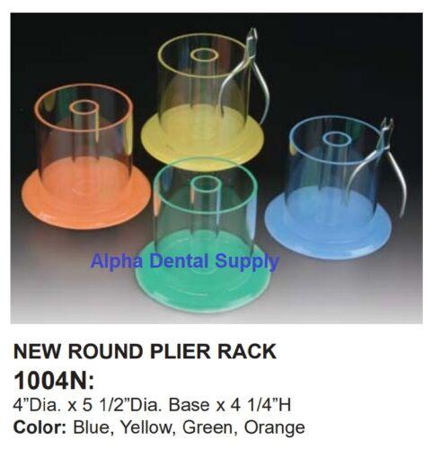 Plasdent Dental Orthodontic Pliers Instruments Rack Organizer Round w/ Hold Tube
