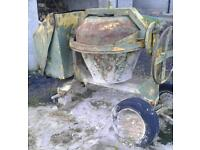 Cement mixer without engine
