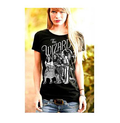 Film - Zauberer von Oz - Dorothy & Freunde - Frauen T-Shirt, schwarz- LOGOSHIRT