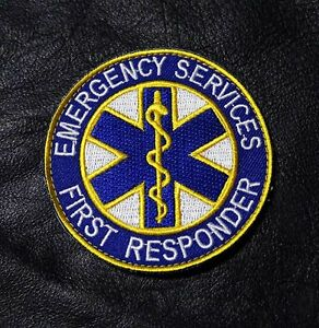 EMERGENCY FIRST RESPONDER  MEDIC EMS FIRE FIGHTER EMT HOOK PATCH BY MILTACUSA