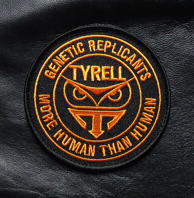 BLADE RUNNER TYRELL GENETIC REPLICANT MORE THAN HUMAN HOOK 3.5 inch PATCH