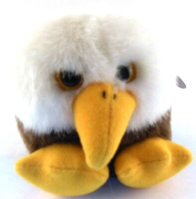 Baldwin the Eagle Puffkins Bean Bag Plush 1998 Patriotic Bird with Hang Tag