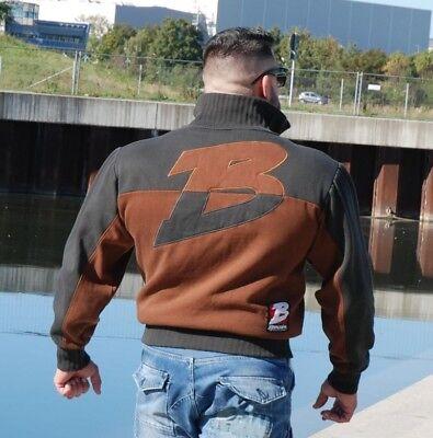 Brachial Zip-Sweater Original Antharzit/Braun Anthracite/Brown Bodybuilding  - Original Zip