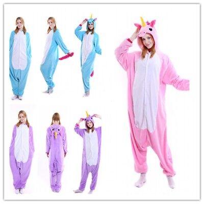 Halloween Pink Purpl Blue Pegasus Onesiee Kigurumi Fancy Costume Pyjama Bodysuit (Pegasus Halloween Kostüm)
