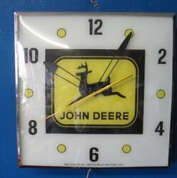 Vintage Pam Lighted Advertising JOHN DEERE  Clock
