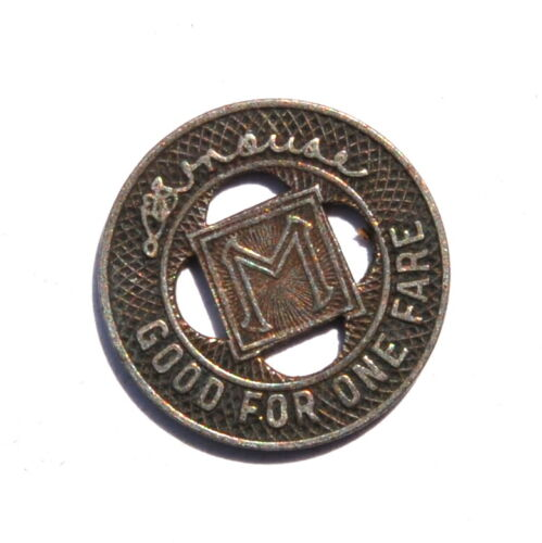 Minneapolis St. Ry. Co. Good For One Fare Token #1