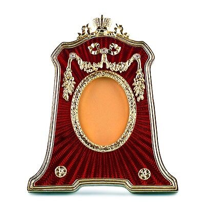 Red Guilloche Enamel Faberge Picture Frame on Rummage