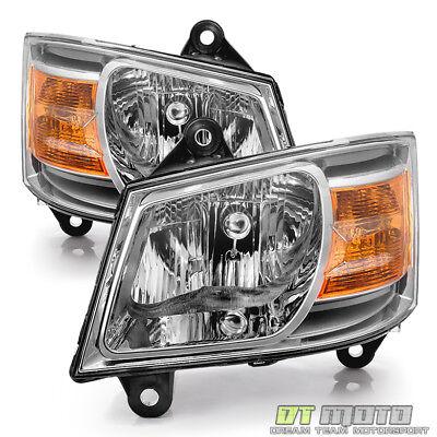 2008-2010 Dodge Grand Caravan Replacement Headlights Headlamps 08-10 Left+Right