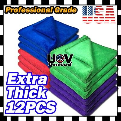 Bulb Pack Microfiber Cleaning Cloth No-Scratch Rag Car Polishing Detailing Towel