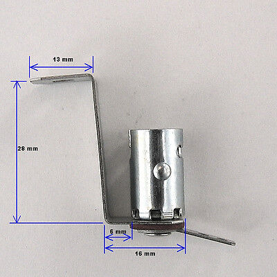 Miniature Bayonet Bulb Holder Lamp Socket Metal Bracket Ba9S Base Ex. #47 Bulbs (Miniature Bulb Ba9s Base)
