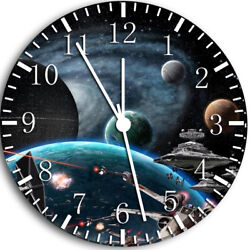 Space Frameless Borderless Wall Clock Nice For Gifts or Decor W50