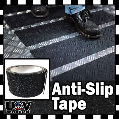 Anti Slip Non Skid High Traction Safety Grit Tape Strips Sticker Adhesive Roll ()