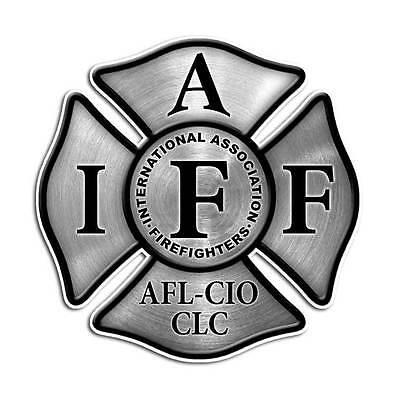 Stainless Steel Maltese Cross IAFF International Sticker - Firefighter Decal