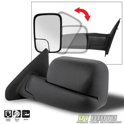 [LEFT,Driver Side] 2002-2008 Dodge Ram 1500 03-09 2500 3500 Towing MANUAL Mirror 07 Dodge Ram Manual
