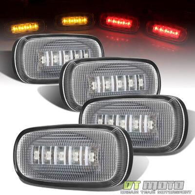 2003-2009 DODGE RAM 3500 DUALLY BED FENDER LED SIDE MARKER LIGHTS 4PC SET CLEAR