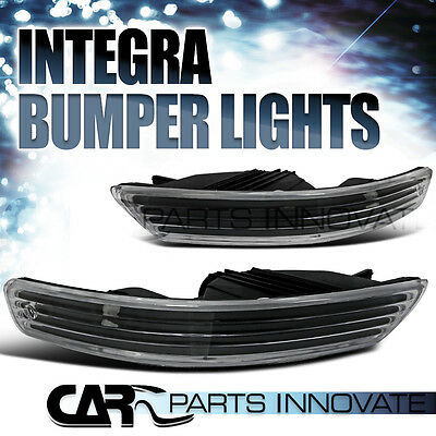 Acura 98-01 Integra Front Bumper Lights Turn Signal Parking Lamp Black