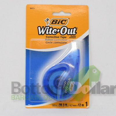 Bic Wite-out Correct Film-based Correction Tape 16 X 39.3 Ft White 2 Pack
