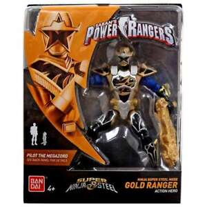 "Power Rangers Super Ninja Steel Mode Gold Ranger  5"" Figure"
