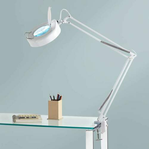 Lamps Plus Magnifying Clamp-On Desk Lamp