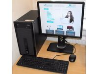 HP Core i3 Windows 10 (or7) Complete PC with USB 3.0