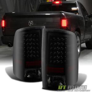 Black Smoke 2009-2018 Dodge Ram 1500 2010-2018 2500/3500 LED Tail Lights Lamps