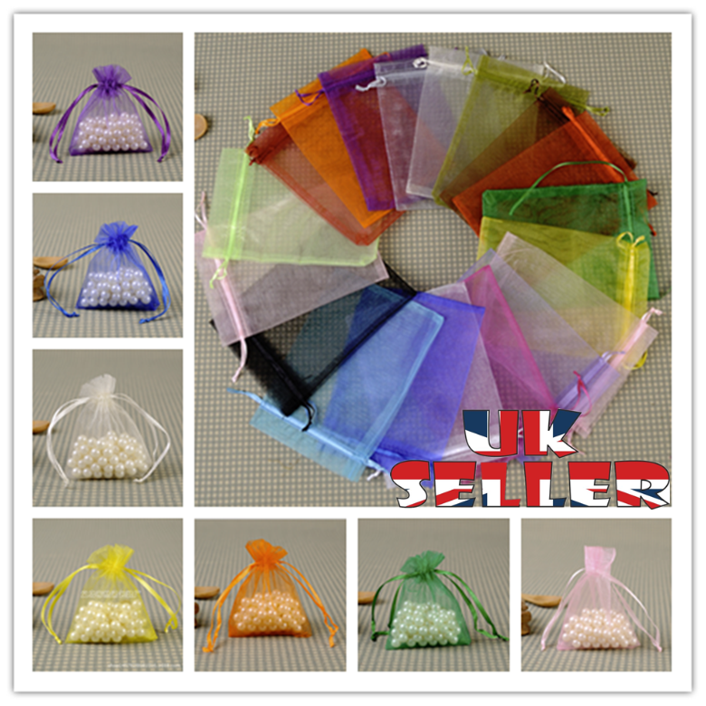 Jewellery - 10-100Pcs Organza Gift Bags Wedding Party Favour Xmas Jewellery Candy Pouches