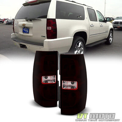 Chevy Tahoe Tail Lamp - Red Smoke 2007-2014 Chevy Suburban Tahoe Tail Lights Brake Lamp Left+Right 07-14