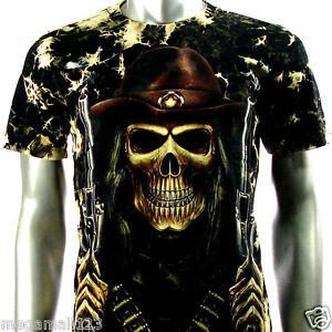 Rock-Eagle-T-Shirt-Biker-Street-Skull-Tattoo-RE44-Sz-M-L-XL-Punk-Heavy-Metal
