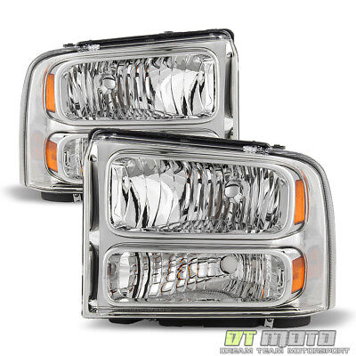 2005 2007 Ford F250 F350 F450 F550 Super duty Headlights LeftRight 05 06 07