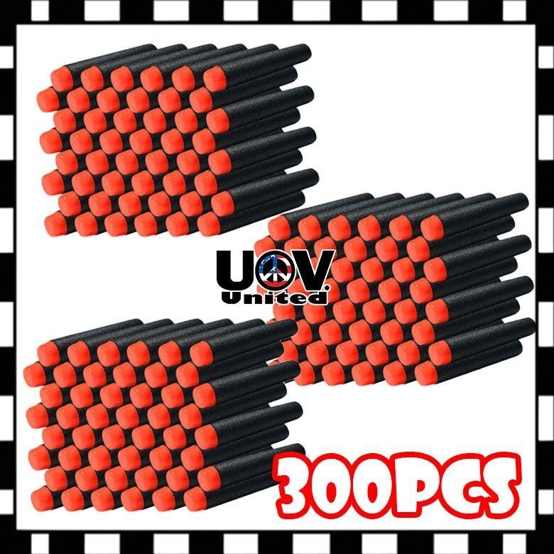 300pcs black 7 3cm refill bullet darts