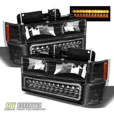 94-98 Chevy C/K Pickup Silverado Suburban Tahoe Led Bumper+ Headlights +Corner
