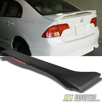 Civic 4dr 4 Door Sedan (2006-2011 Honda Civic 4Dr 4-Door Sedan Rear Trunk ABS Spoiler w/LED Brake)