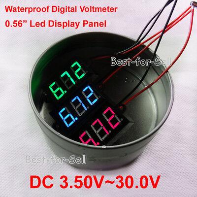 Dc 3.5-30v Waterproof Mini Led Battery Level Voltage Monitor Meter Indicator 12v