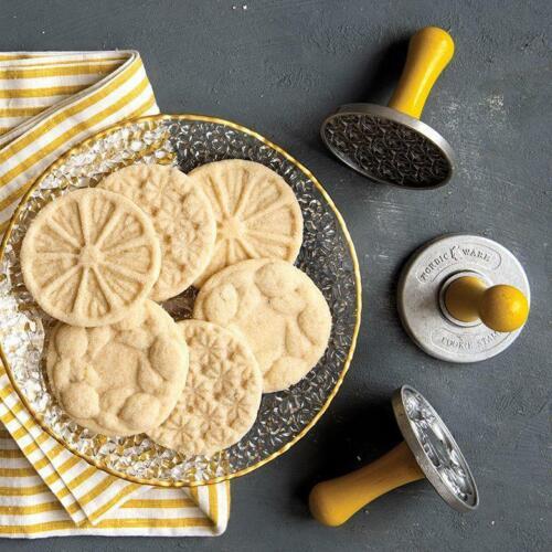 NEW Set of 3 Williams Sonoma Nordic Ware Citrus Lemon Cookie Stamps Press NIB