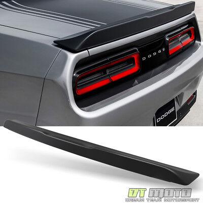 2015-2018 Dodge Challenger Fit 08-14 Rear Trunk ABS Spoiler Primered Matte Black