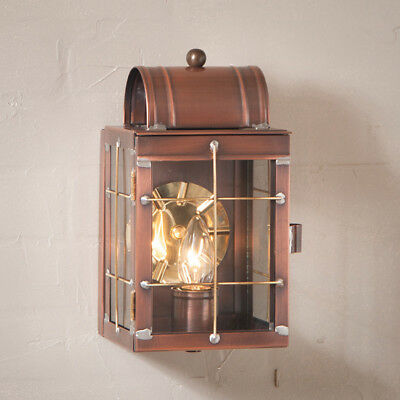 Irvins Tinware Small Outdoor Wall Lantern Antique Copper NEW Free SHIP! Copper Small Outdoor Wall