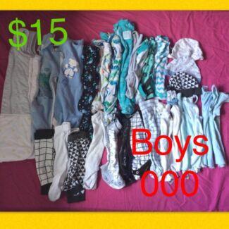 Bulk new born boys 000 clothes